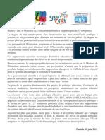 Communique Intersyndical Greve Du 27 Septembre 2011