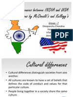 Cultural Differences Between INDIA and USA