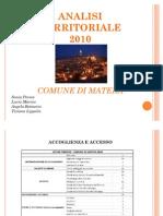 Analisi Territoriale 2010- Comune Di Matera