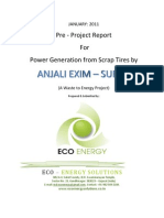 Pre Project Report for Waste Tire to Energy