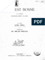 Milan Prelog - Povijest Bosne u Doba Osmanlijske Vlade II Dio - 1739-1878