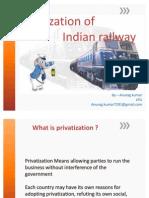 indian railway privatization