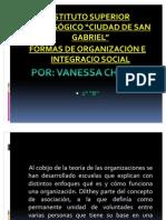 Formas de Organizacion e Integracion Socilal Actual