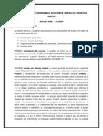 ACTA ASAMBLEA EXTRAORDINARIA DEL COMITÉ CENTRAL DE PADRES DE FAMILIA