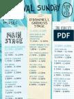 Festival Sunday Line Up