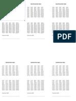 Cute Multiplication Table
