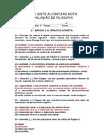 AVALIAÇÃO DE FILOSOFIA - 3º ANO / 2º BIMESTRE