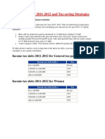 Tax Slabs & Tax Saving Strategies for New Tax Payers 2011-12