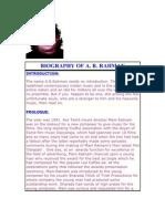 Biography of a. r. Rahman