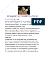 Biography of Stiffen Hawking