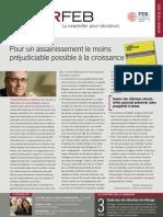 Pour un assainissement le moins préjudiciable possible à la croissance, Infor FEB n° 20, 9 juin 2011