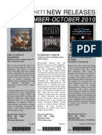 Sept-Oct 2010 New Releases - Bennetts