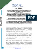 """Resolución Judicial sobre los pagos """"urgentes"""" de Dionisio"""