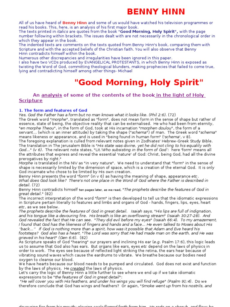 Prayer That Gets Results Benny Hinn Pdf