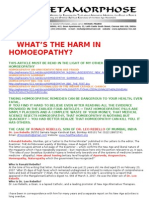 Homoeopathy Whats the Harm in It