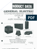 GE Product Data Condensing Units, Coils & Air Handlers