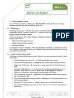 Medical Device Design Verification SOP