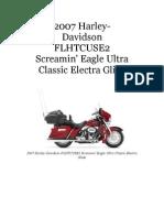 2007 Harley-Davidson FLHTCUSE2 CVO Ultra