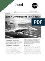 NASA Contributions to the FA-18EF