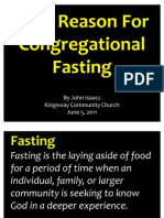 06-05-2011 Best Reason for Congregational Fasting