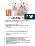 Free Bag Pattern - 'for Pleats Sake' Tote RED
