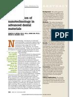 An Application of Nanotechnology in Advanced Dental Materials