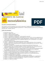 Ley de Memoria Histórica - Texto legal