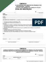 INSCRIÇÃO CONSELHO TUTELAR