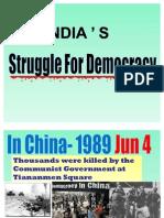 India's Struggle for Democracy