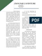 L'éducation par l'aventure - France Sirois, Simon Mélançon, Yan Goyette (2011)