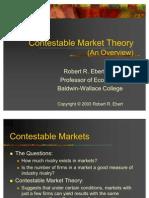 Contestable Market Theory