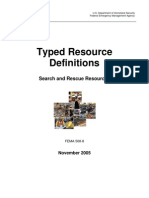 508-8 Search and Rescue Resources