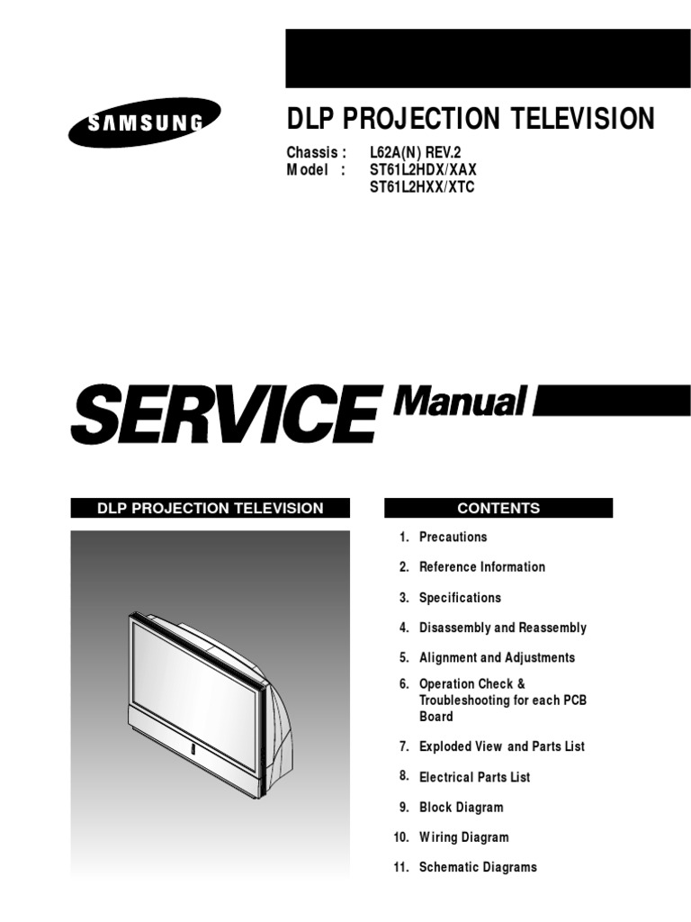 Samsung l62a Chassis St61l2hdx Projection [ET] | Set Top Box |  Videocassette Recorder