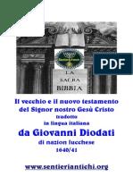 La Sacra Bibbia nuovamente traslata in lingua italiana da Giovanni Diodati nel 1641