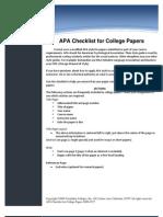 APA Checklist