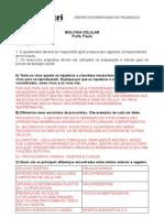 EXERCÍCIOS BIOLOGIA CELULAR - 1 BIM RESPOSTAS