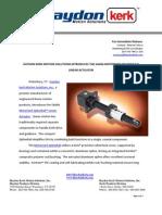 Motorized SplineRail Linear Actuator