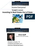 Buying Investment Property Out of State