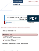 Introduction to Marketing and the Global Marketplace