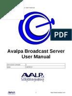 AvalpaBroadcastServerUserManual-v1.0