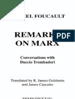 Foucault - Remarks on Marx