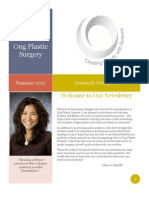 Ong Plastic Surgery Summer Newsletter
