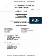 PURPURA v SEBELIUS (THIRD CIRCUIT) - Pro Se Appendix - Transport Room