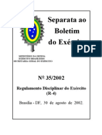 R4 - REGULAMENTO DISCIPLINAR DO EXÉRCITO
