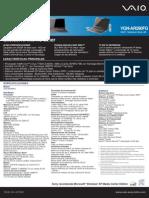 Manual de Sony Vgn-Ar290fg
