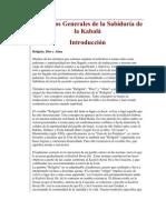 Principios Generales de la Sabiduría de la Kabalá