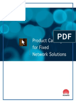 Product Catalogue for Fixed Network Solutions