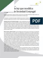 2011 04 Proyecto de Ley Que Modifica Regimen de Sociedad Conyugal