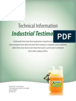 Syntek XFT Xtreme Fuel Treatment Industrial Testimonials