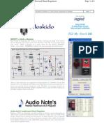 Audio Note Feed Forward Shunt Regulator